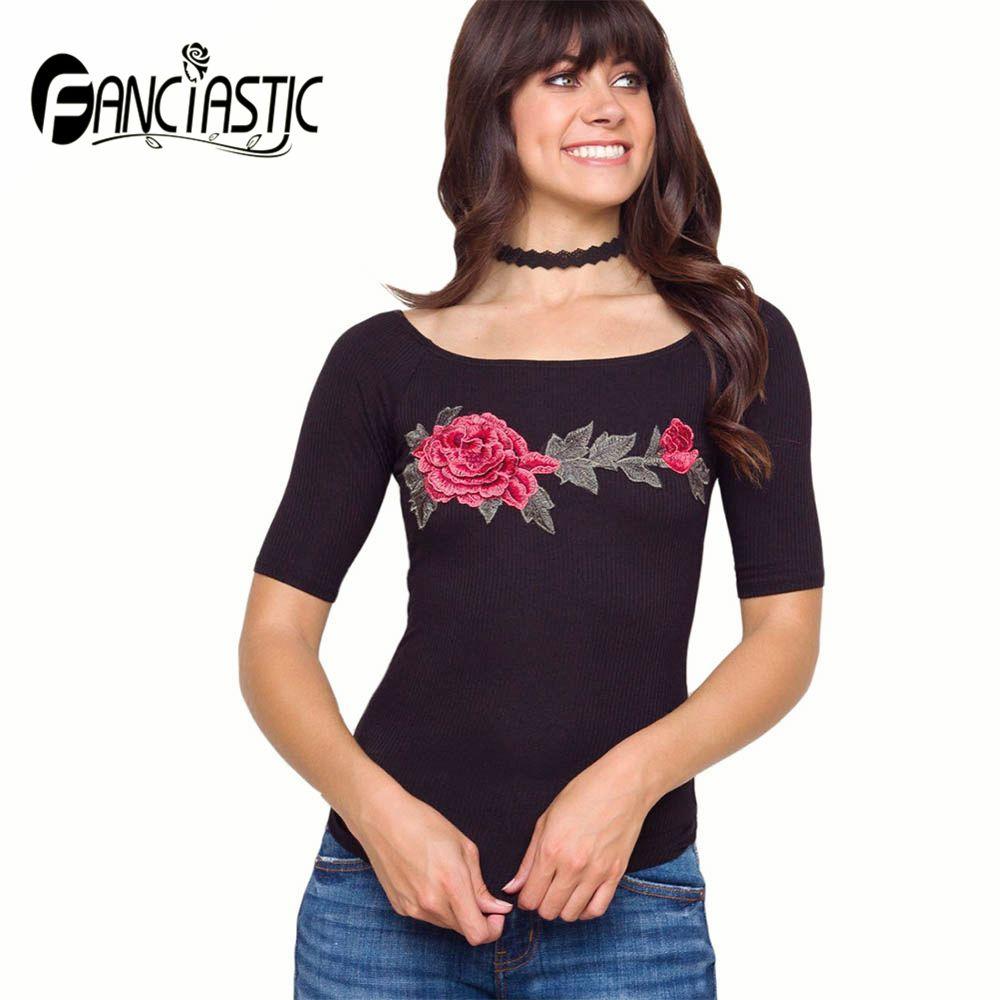 2017 Women Summer Short Sleeve Round Neck T Shirt Simple