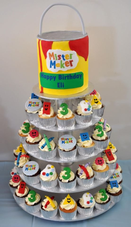 Mister Maker Inspired Cake Artart Party Pinterest Cake