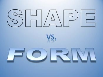 Shape VS. Form PowerPoint Presentation | Dimensional shapes, High ...