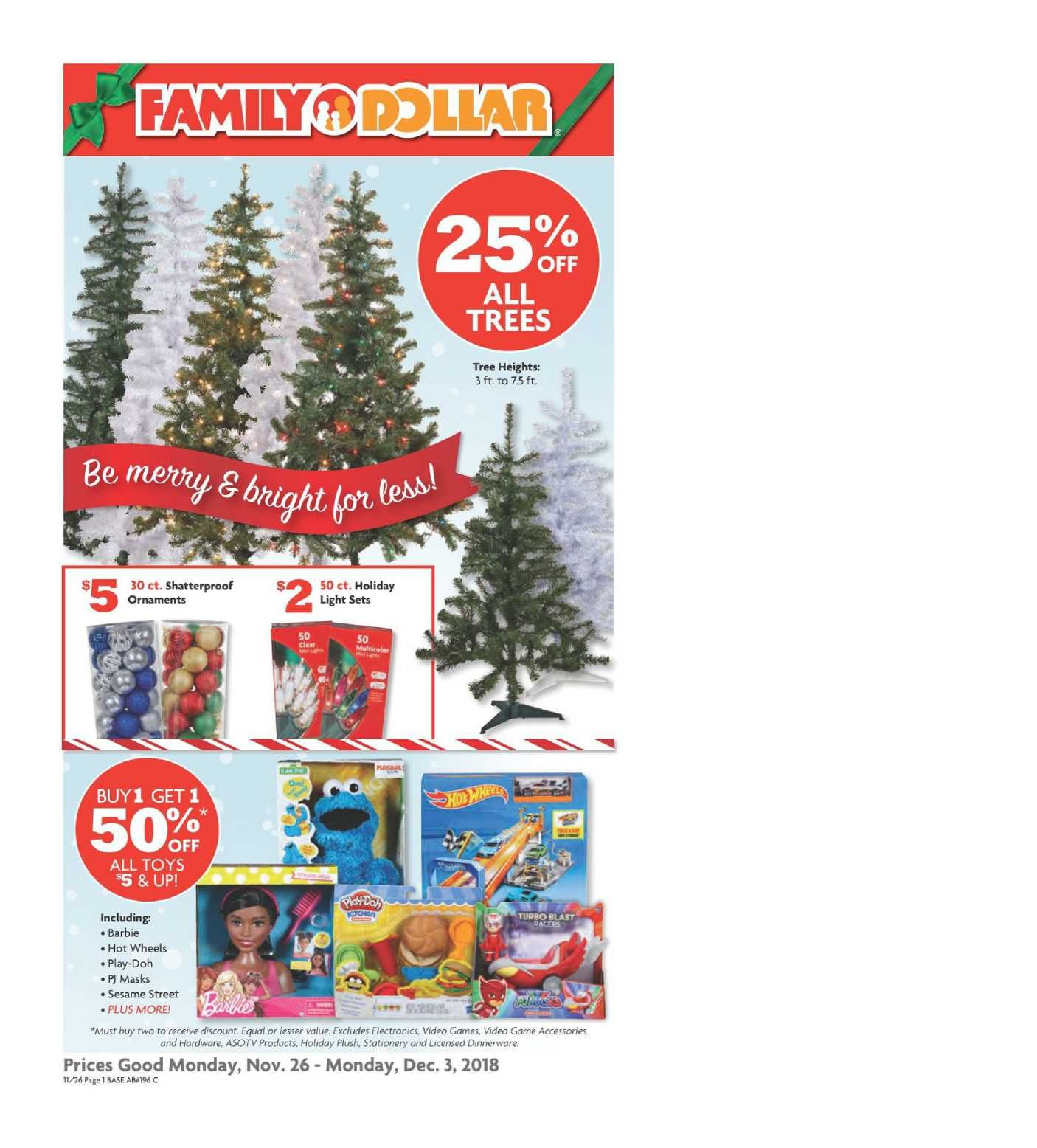 Family Dollar Weekly Ad Flyer December 31 2018 January 29