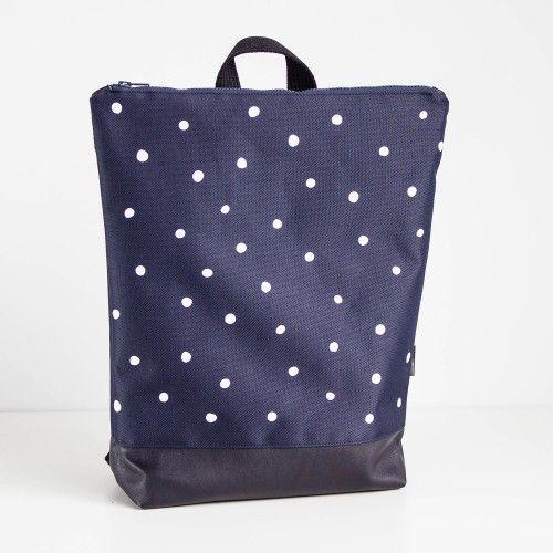 Navy Blue Backpack - Winter Snow