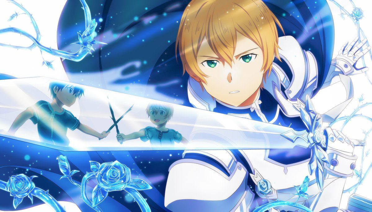 fcc on twitter 最終話までに二日くらいしか残ってないが 青薔薇の騎士 sword art sword art online asuna sword art online kirito