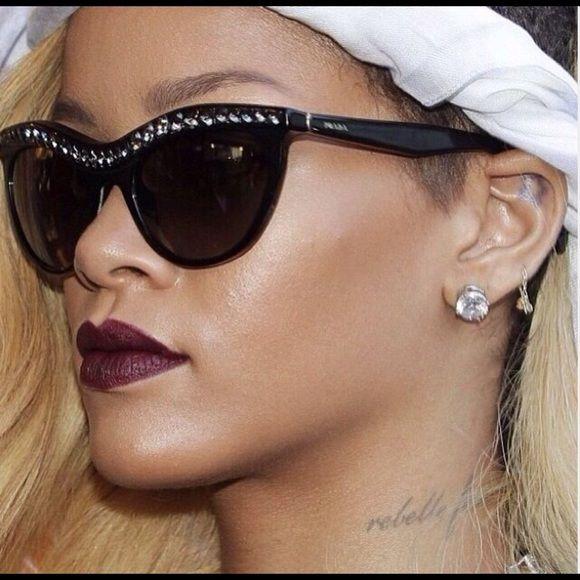 ecd8e8dfa6cf PRADA Crystal Sunglasses as seen on Rihanna! PRADA Amber Crystal-Encrusted  Cat-Eye Sunglasses as seen on fashion icon Rihanna! -Enamel cat-eye frames.