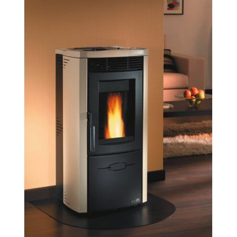 Stufa A Pellet VallÌ 10 Kw Steel Pergamena By Dal Zotto On Happydo Http:/