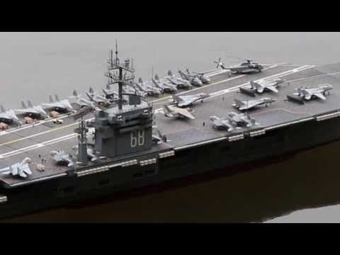 Rc Flugzeugtrager Uss Nimitz Aircraft Carrier Warship Schiff Flugzeug Bau
