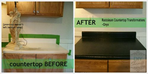 Countertop Before And After Feature Changing Laminate Countertops With Rustolem Kit
