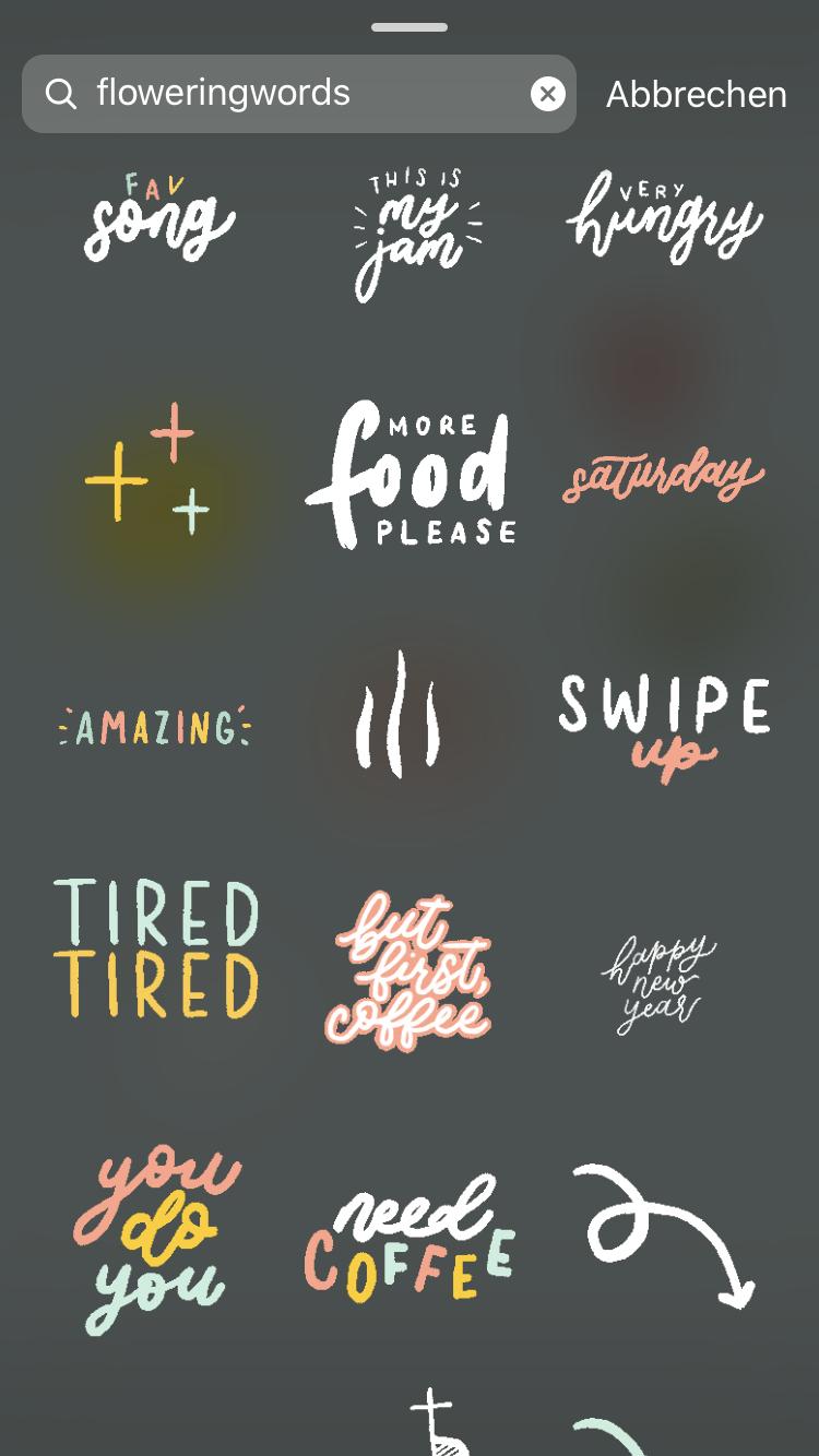 Die schönsten kostenlosen Instagram Story Sticker - Story schöner gestalten — hochseiltraum