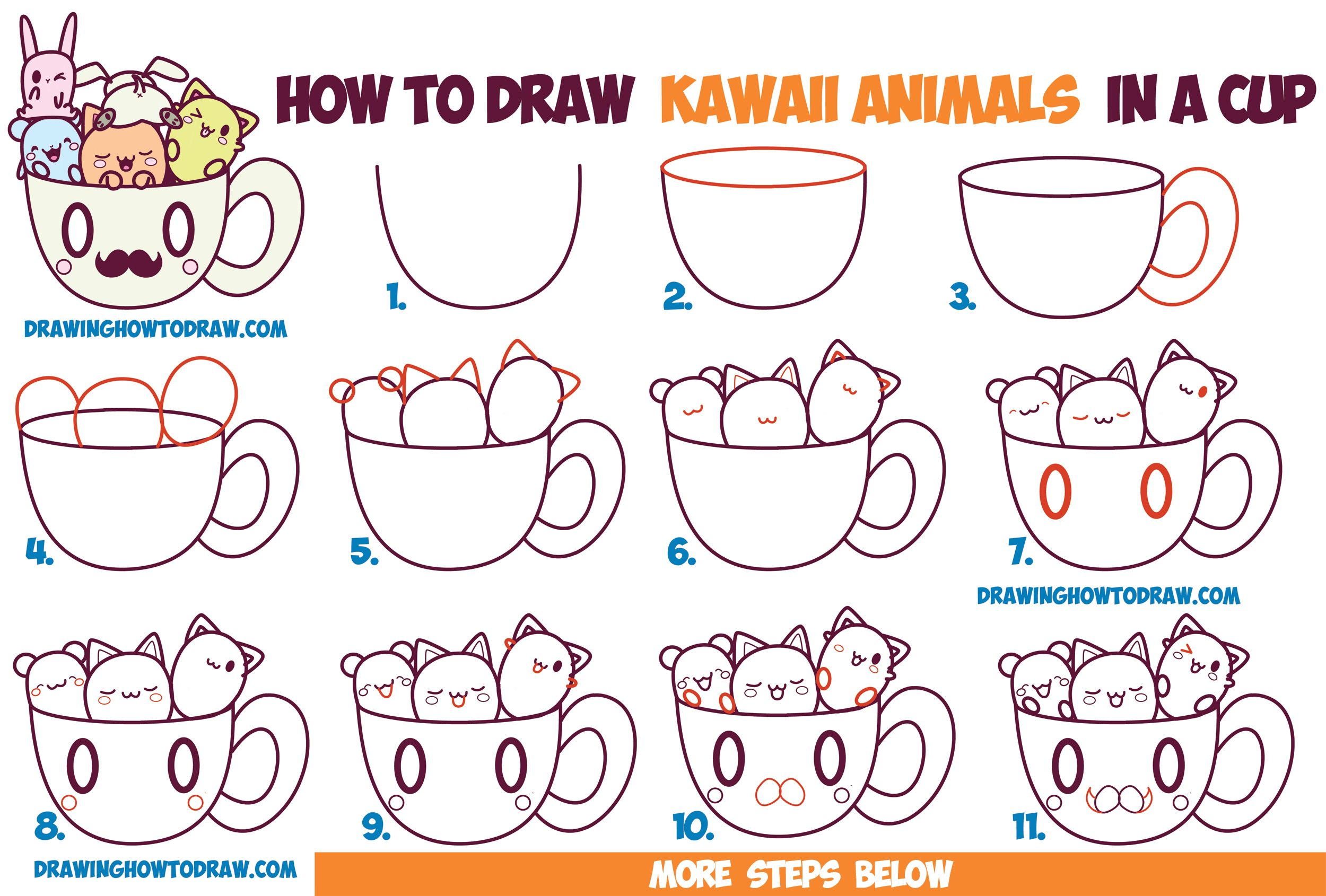 How to Draw Cute Kawaii Animals and Characters in a Coffee ...