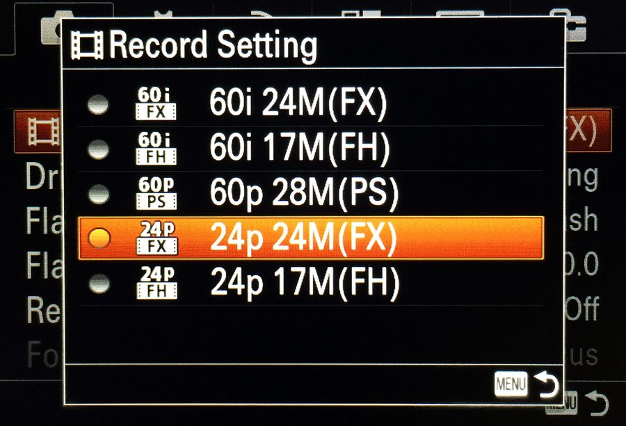 A7, A7r, a6000 Best Record Settings for Video