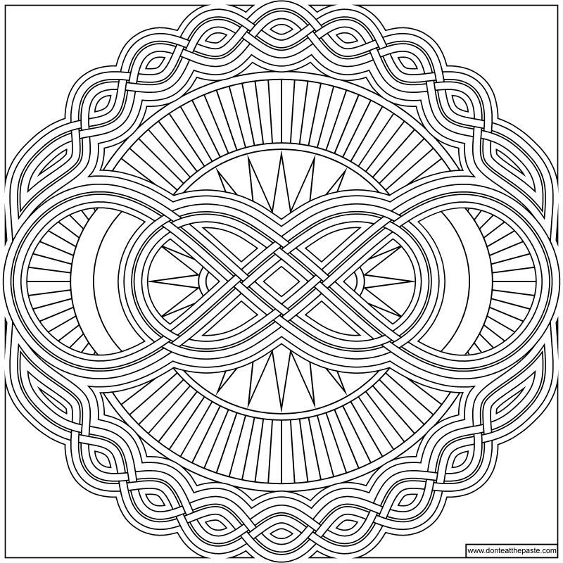 Infinity Mandala To Color Mandala Coloring Pages Mandala