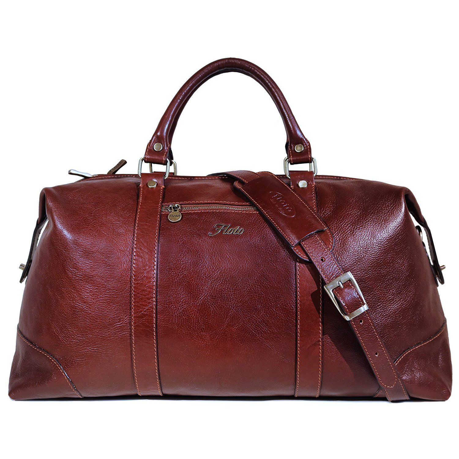 Floto Collection Sport Duffle in Vecchio Brown Italian Calfskin Leather 3mGNpm