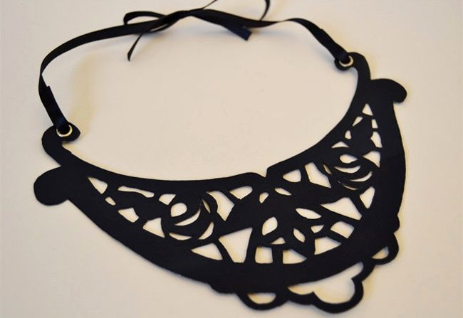 cut out necklace TUTORIAL--would be great on the back of a felted jacket.