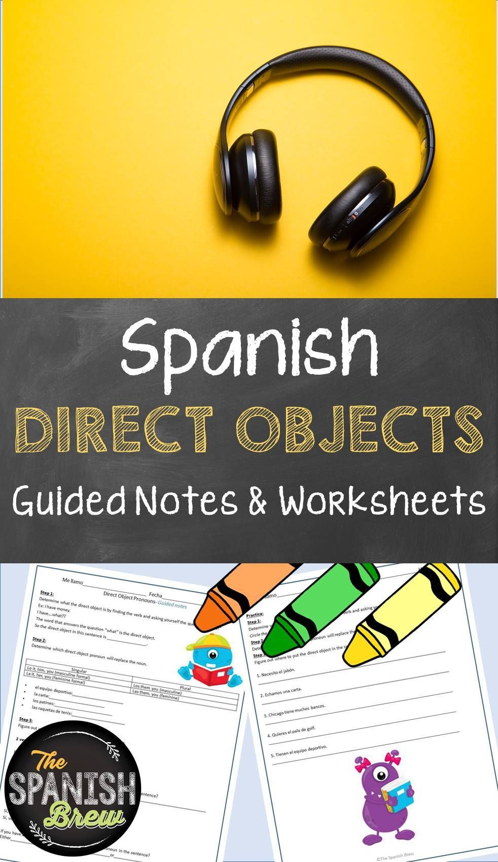 Spanish Worksheet For A Natural Approach To Direct Object Pronouns Spanish Grammar Activities Spanish Students Foreign Language Classroom