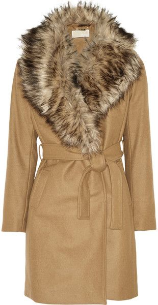 latest discount 100% original special promotion Women's Natural Faux-Fur and Wool-Blend Coat | College ...