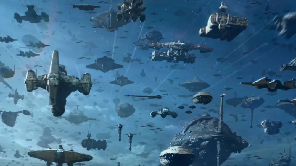 See How Star Wars Most Impressive Fleet Was Created In This Exclusive Rise Of Skywalker Clip In 2020 Star Wars Ships Star Wars Novels Star Wars