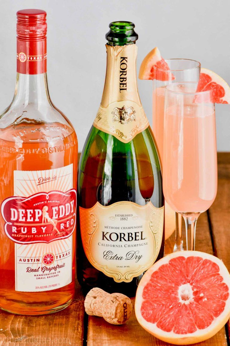 Grapefruit Champagne Cocktail - Wine and Glue