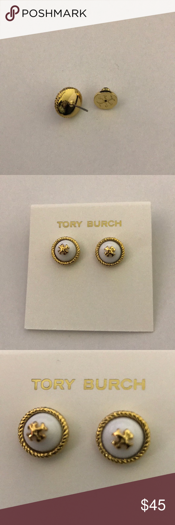 bc7fe5d37e9 New Tory Burch stud earrings The earrings come with the dust bag Tory Burch  Jewelry Earrings
