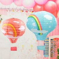 OH, THE PLACES YOU WILL GO HOT AIR BALLOON PAPER LANTERN