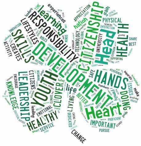 clover word cloud 4 h clip art pinterest 4 h pinterest rh pinterest com 4-h clover leaf clipart 4 Leaf Clover Vector