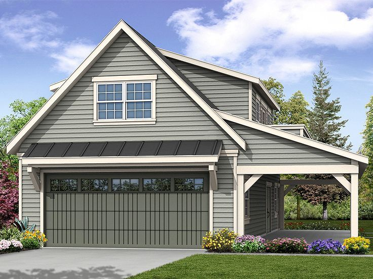 051g 0100 Garage Plan With Loft And Covered Porch Craftsman Style House Plans 2 Car Garage Plans Garage Plans With Loft