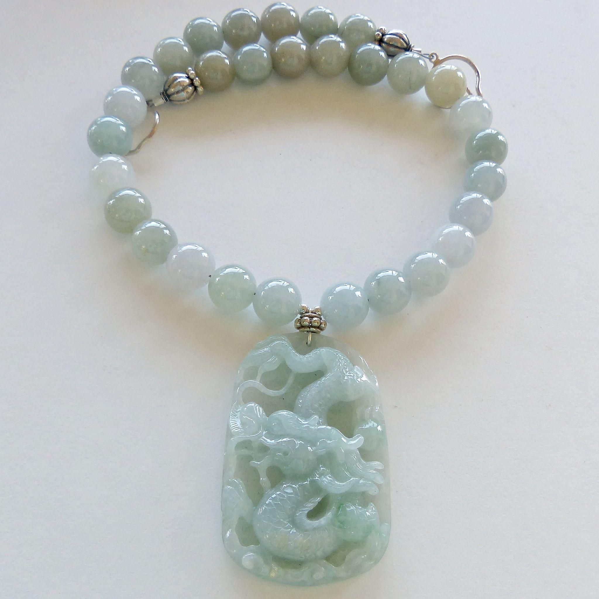 carved pendant amulet jade koip dragon jewelry fullxfull necklace p oriental yogi statement bold meaningful gift yoga talisman il