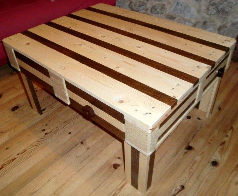 ms de 60 ejemplos de muebles hechos con palets - Mesa Con Palets