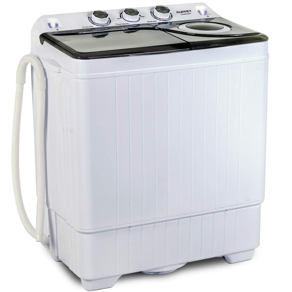 Kuppet Compact Twin Tub Portable Mini Washing Machine 26lbs Capacity Washer 18lbs Spiner 8lbs Built In Drain Pump Semi Automatic White Gray Walmart Com In 2020 Mini Washing Machine Portable Washer Portable Washer And Dryer