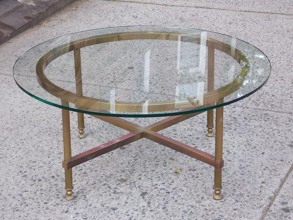Loading Home Decor Pinterest Bedford Stuyvesant Round Glass - Round brass glass side table