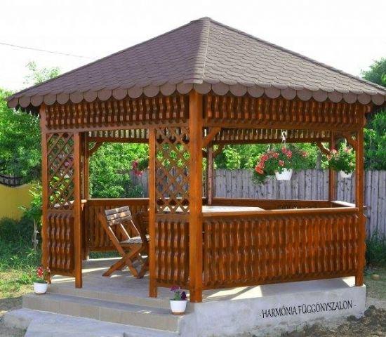 Foisor De Gradina Cu Acoperis In 4 Ape Gazebo Patio Outdoor Structures