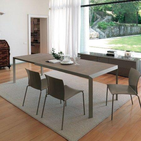 Kleine Räume · Möbel · Erweiterbarer Tisch · Pflastersteine · Esszimmer ·  Bontempi Casa Izac Extendable Table