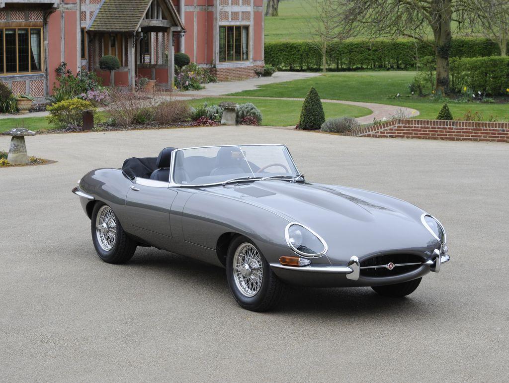 A Nice Jaguar E Type Sport Car
