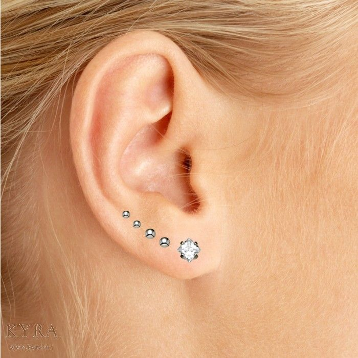 Graduating Earlobe Piercings You Many Choose From A Wide