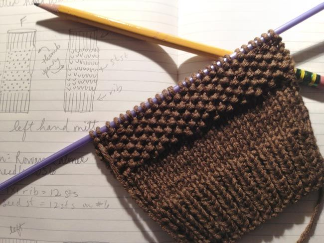 Free Knitting Pattern For Making Fingerless Mitts Easy Pattern