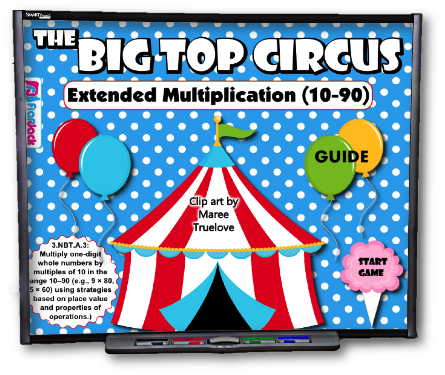 Big Top Circus Extended Multiplication Smart Board Game Common