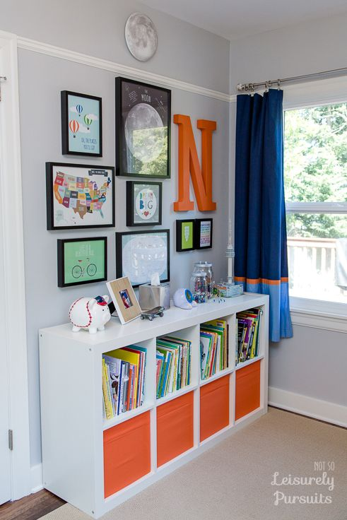 Nice Decor With Shelving. Bedroom For A Kindergartner