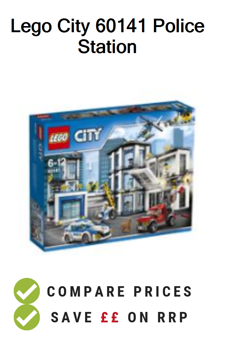 Lego City 60141 Police Station Uk Prices Lego 60141 Police Station Building Toy Deals And Vouchers Lego City Police Station City