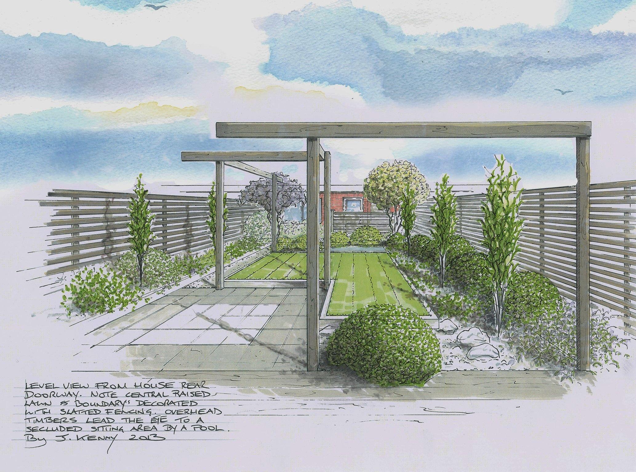 John Kenny Garden Design Epsom Surrey Uk Landscape Design Drawings Landscape Design Modern Landscape Design