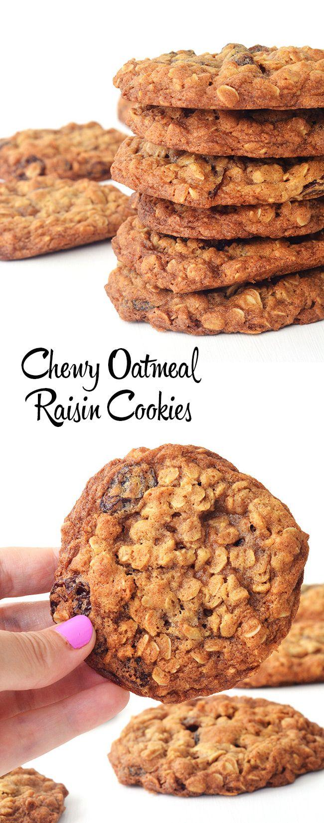 The BEST big and chewy Oatmeal Raisin Cookies I have ever had!