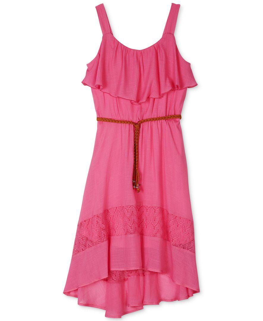 Bcx Girls' Ruffled High-Low Dress