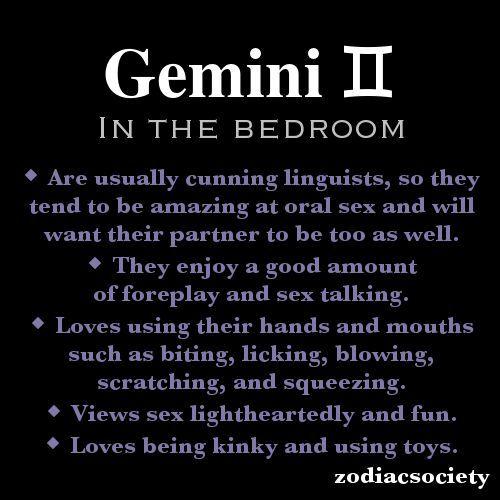 Gemini and sex