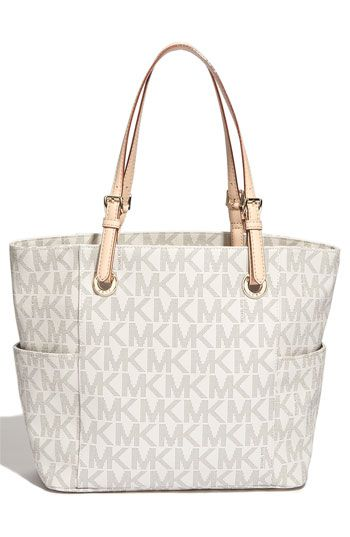 4603be47f Free shipping and returns on MICHAEL Michael Kors 'Jet Set Signature' Tote  at Nordstrom.com. Dot-print logos pattern a plentiful-pocket tote designed  with ...