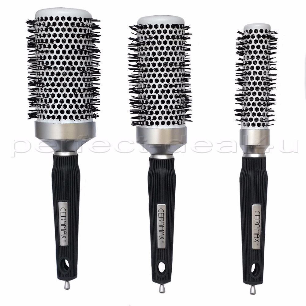 Professional Quality Ceramic Blow Dry Hair Brush Round Salon Big Small Ceramax Blow Dry Hair Blow Dry Hair Brush Hair Brush