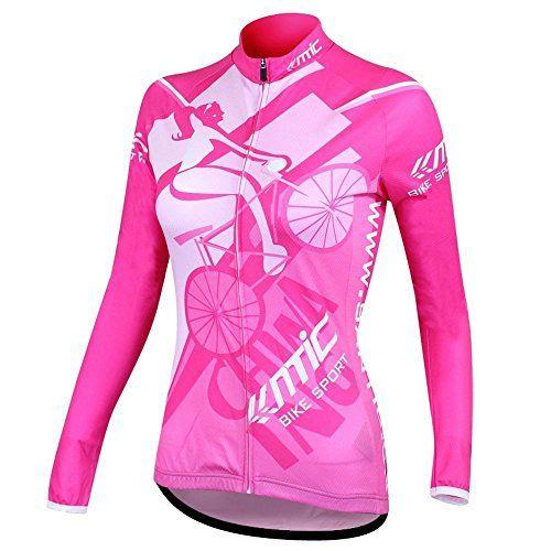 Cycling Jersey Womens Long Sleeve Top Sports Mountain Bike Shirt Bicycle Jacket