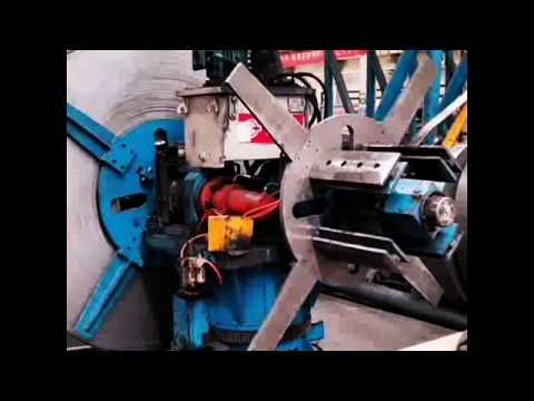 Automatic rotation Hydraulic Uncoiler for ERW Tube Mill & Pipe Mill - YouTube