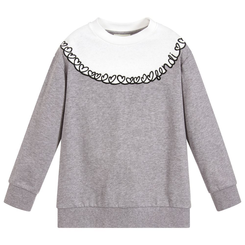 72751f82d5f7 Girls Grey Cotton Sweatshirt