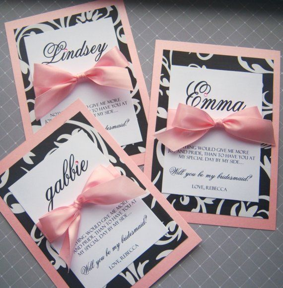 diy bridesmaids invites i like the personalized names different