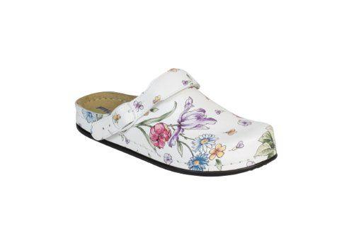 """AWC Damen-Sandale """"Natur-Design"""" Blumen mit verstellbarem Ristriemen und Tieffußbett (40) - http://on-line-kaufen.de/awc/awc-damen-sandale-natur-design-blumen-mit-und-40"""