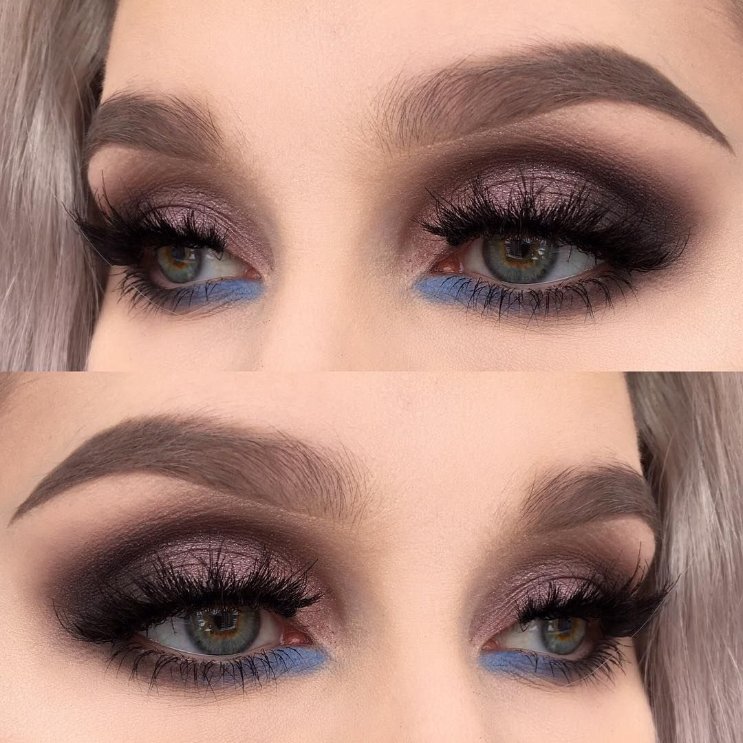 I used @inglot_cosmetics eyeshadows in 360, 329 and 160 | @limecrimemakeup Venus 2 palette (shadow: filter) | @houseoflashes falsies bambie and heartbreaker | @anastasiabeverlyhills dipbrow pomade in taupe ✨ Just a splash of blue ✨ #wakeupandmakeup #fiercesociety #vegas_nay #motd #eotd #mua #makeup #makeupartist