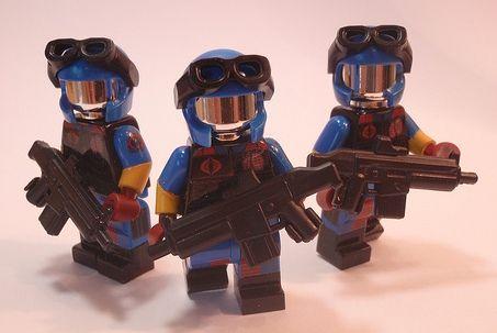 NEW GI Joe Snake Eyes Lego Block Compatible Cobra Mini Figure IN USA