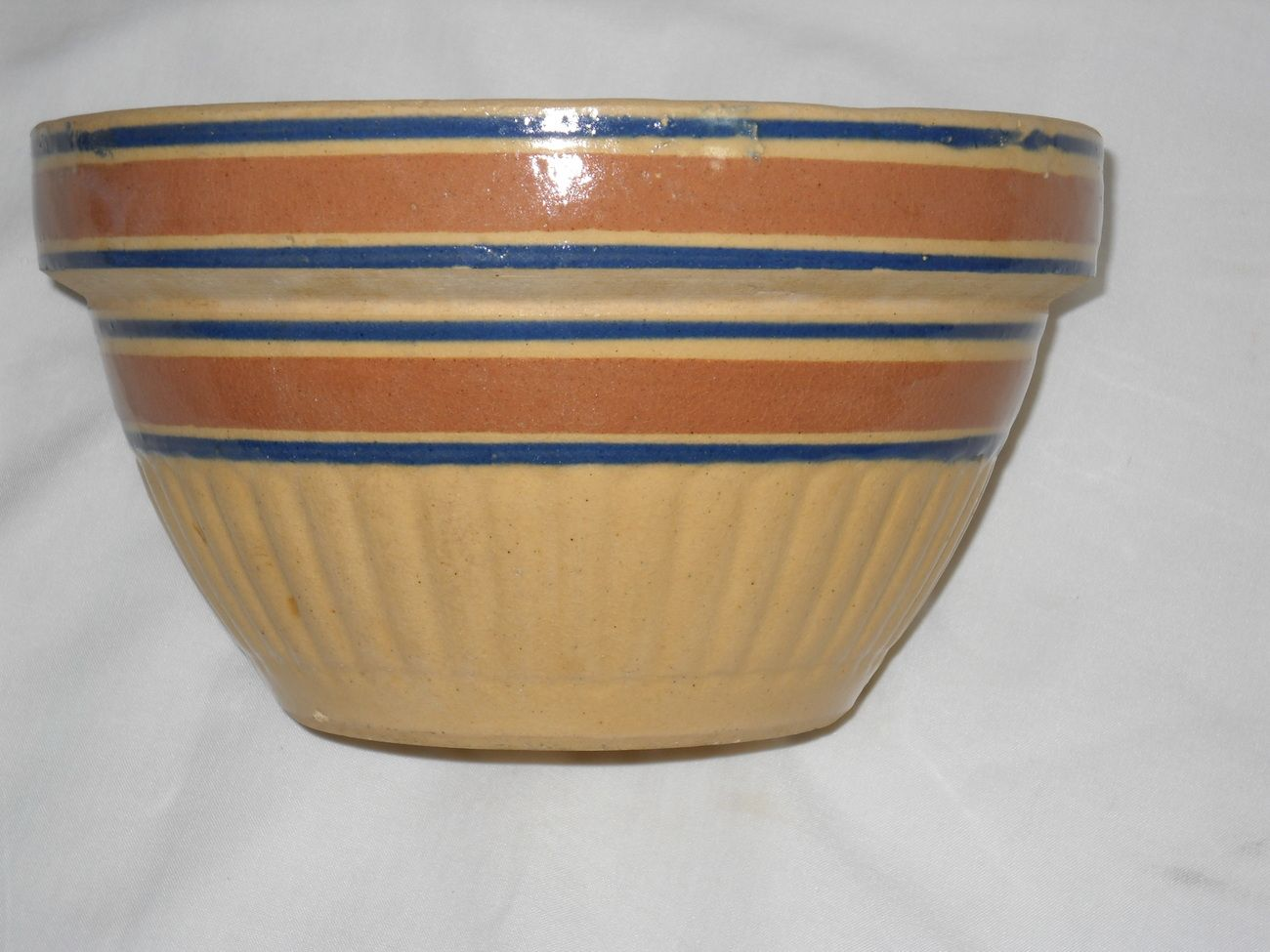 Vintage Yellow ware Stoneware 8 in Bowl | My vintage ...